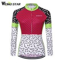 WEIMOSTAR maillot de manga larga de otoño para mujer, Ropa para Ciclismo de montaña, 2017