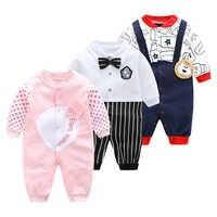 Весенне-осенняя одежда для новорожденных, комбинезоны, новинка 2019 года, комбинезон с длинными рукавами и рисунком животных для мальчиков от...