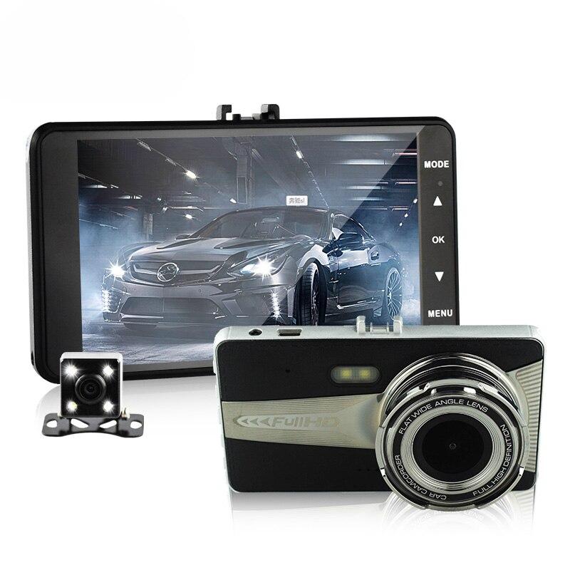 Double lentille voiture caméra auto dvr caméscope voitures dvrs A9S carcam dash cam Full HD 1080 P parking enregistreur vidéo registrator 4.0 pouce