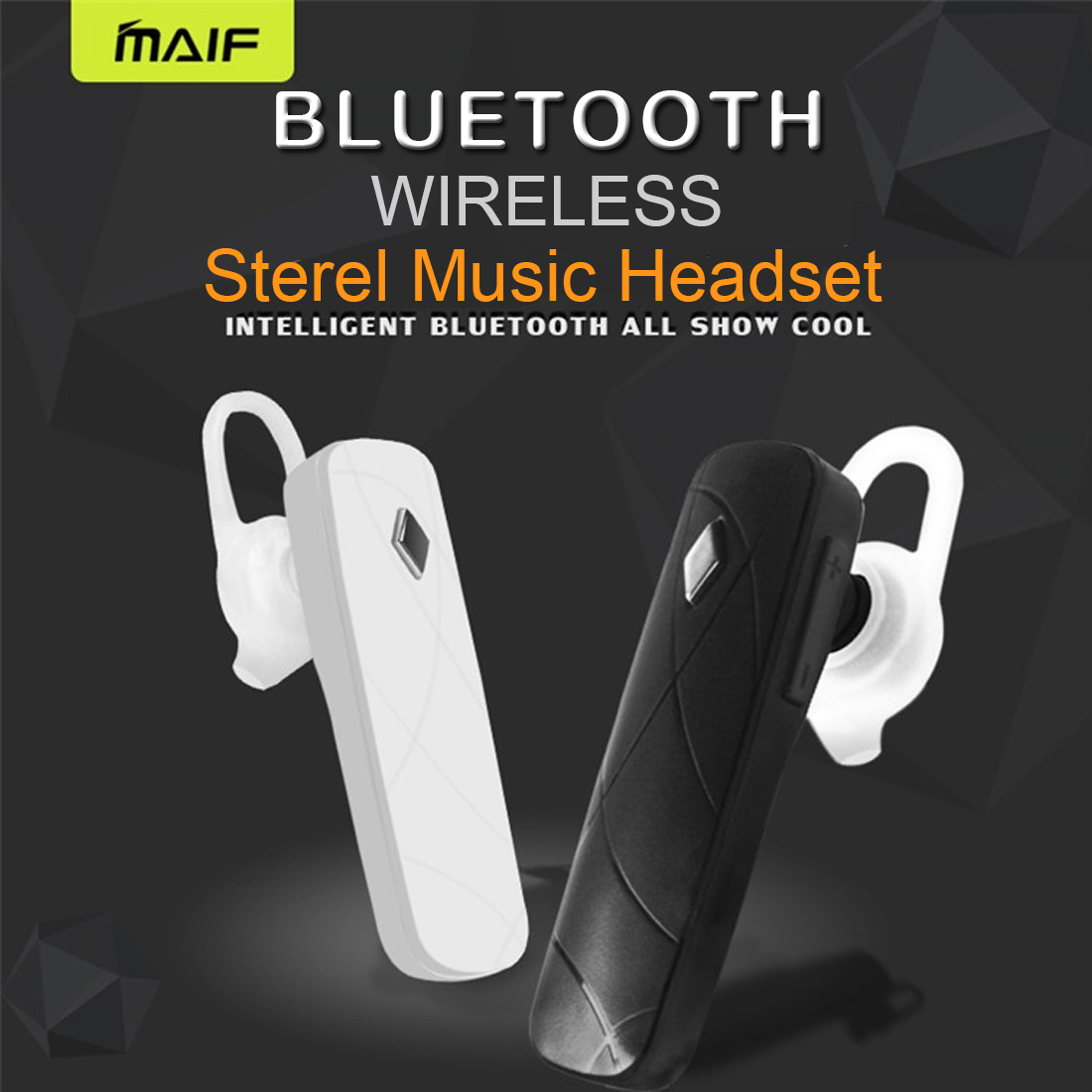 MAIF Stereo V4.1 Bluetooth Headset Headphone Wireless Earphone with Mic Sport Music Earpiece For iPhone Android All Smart Phone