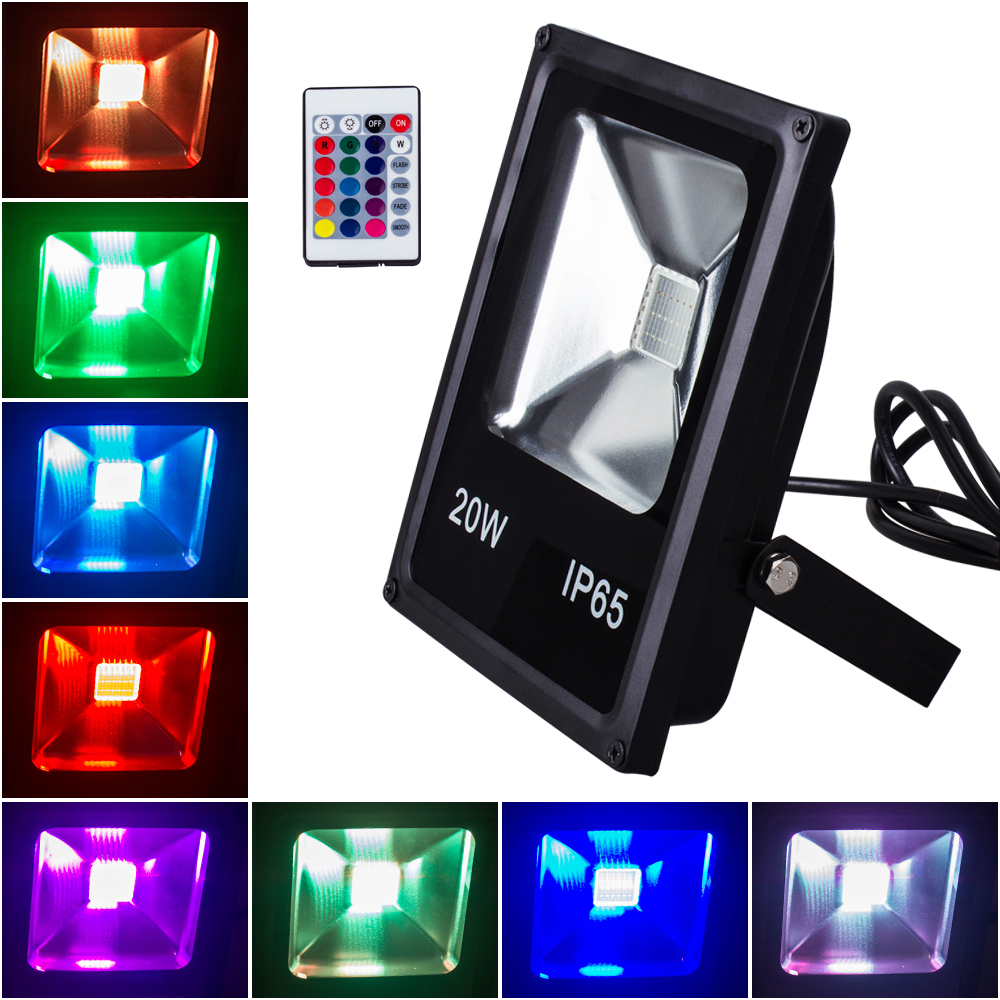 LED Flood Street Light RGB 10W 20W 30W 50W Waterproof Outdoor Garden Landscape Lighting for
