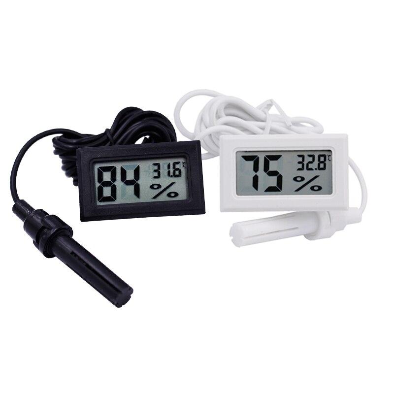 Mini LCD Digital Moisture Meter Thermometer Hygrometer Meter Temperature Humidity Gauge Monitor Tester Detector Incubator Meter