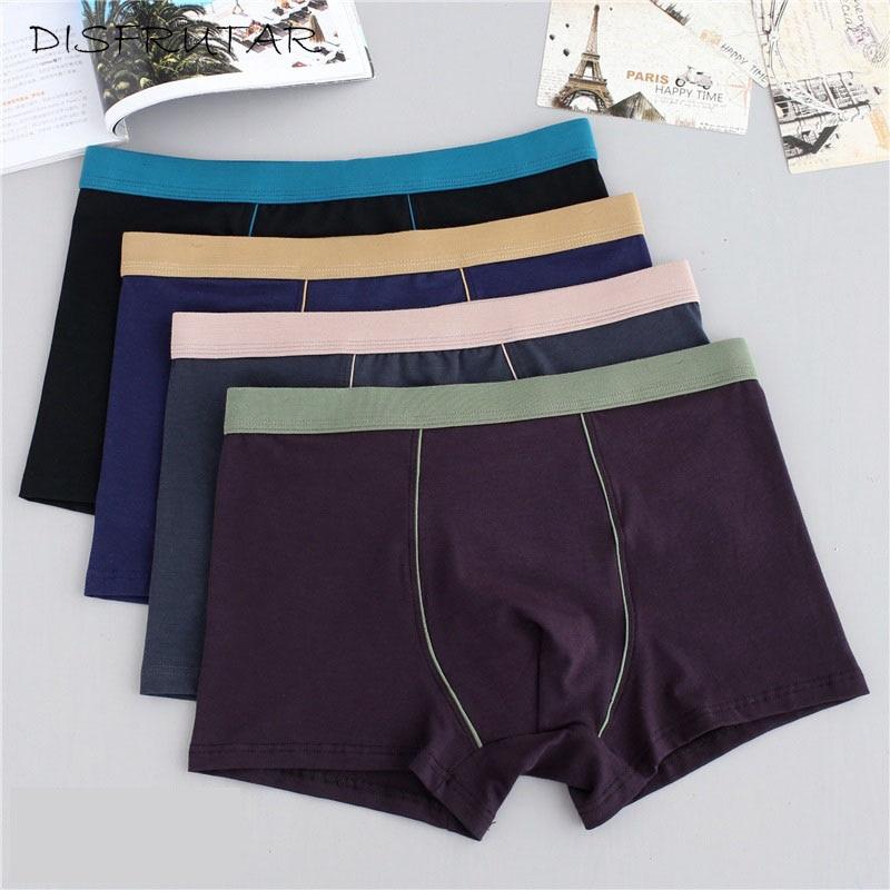 Plus Size Male Underwear 4 Pcs/lot Men Underwear Boxers Shorts Cotton Cuecas Boxer Men Solid Underpants Man Boxer Large XL-9XL