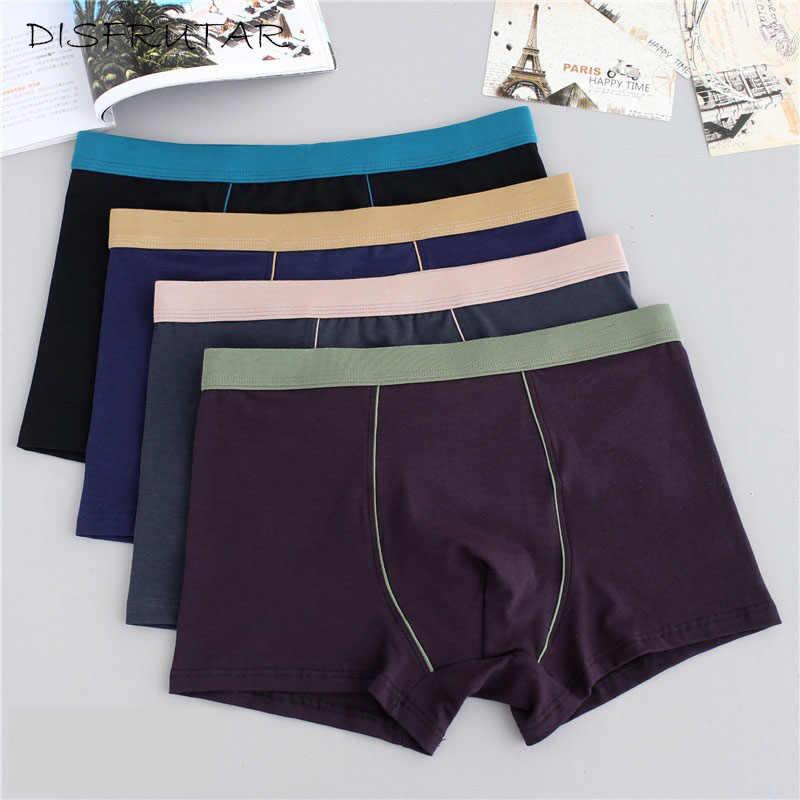 9bdf7d75b Plus Size Male Underwear 4 Pcs lot Men Underwear Boxers Shorts Cotton Cuecas  Boxer Men