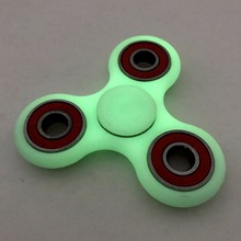 HOT Lighting LED Tri-Spinner Fidget Toy ABS Plastic EDC Hand Spinner For Autism and ADHD Rotation Long Time Stress Relief Toys