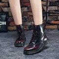 Martins Dr mulheres Botas Martins Doc 2017 Britânico Do Vintage Verdadeiro Clássico Sapatos Da Motocicleta das Mulheres Martin Botas de Salto Grosso Do Sexo Feminino