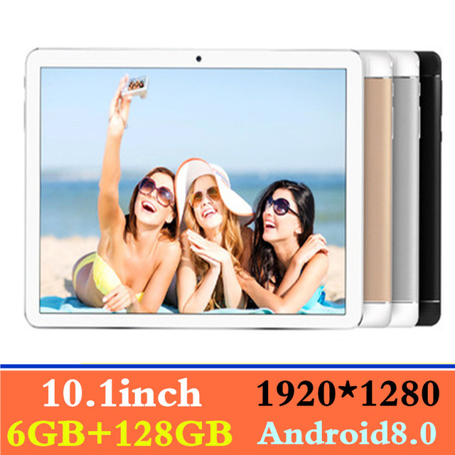 2019 New 10.1 inch 4G LTE Tablet PC Octa Core 6GB RAM 128GB ROM 1920*1280 IPS 2.5D Glass Bluetooth 10 Tablets Android 8.0+Gifts