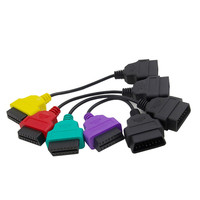 Portable 4PCS ECU Scan OBD2 Adaptors Cable Full Set For Fiat Multi EcuScan Green ABS / Power Sreeing Adapter BMW e60 f10 F20