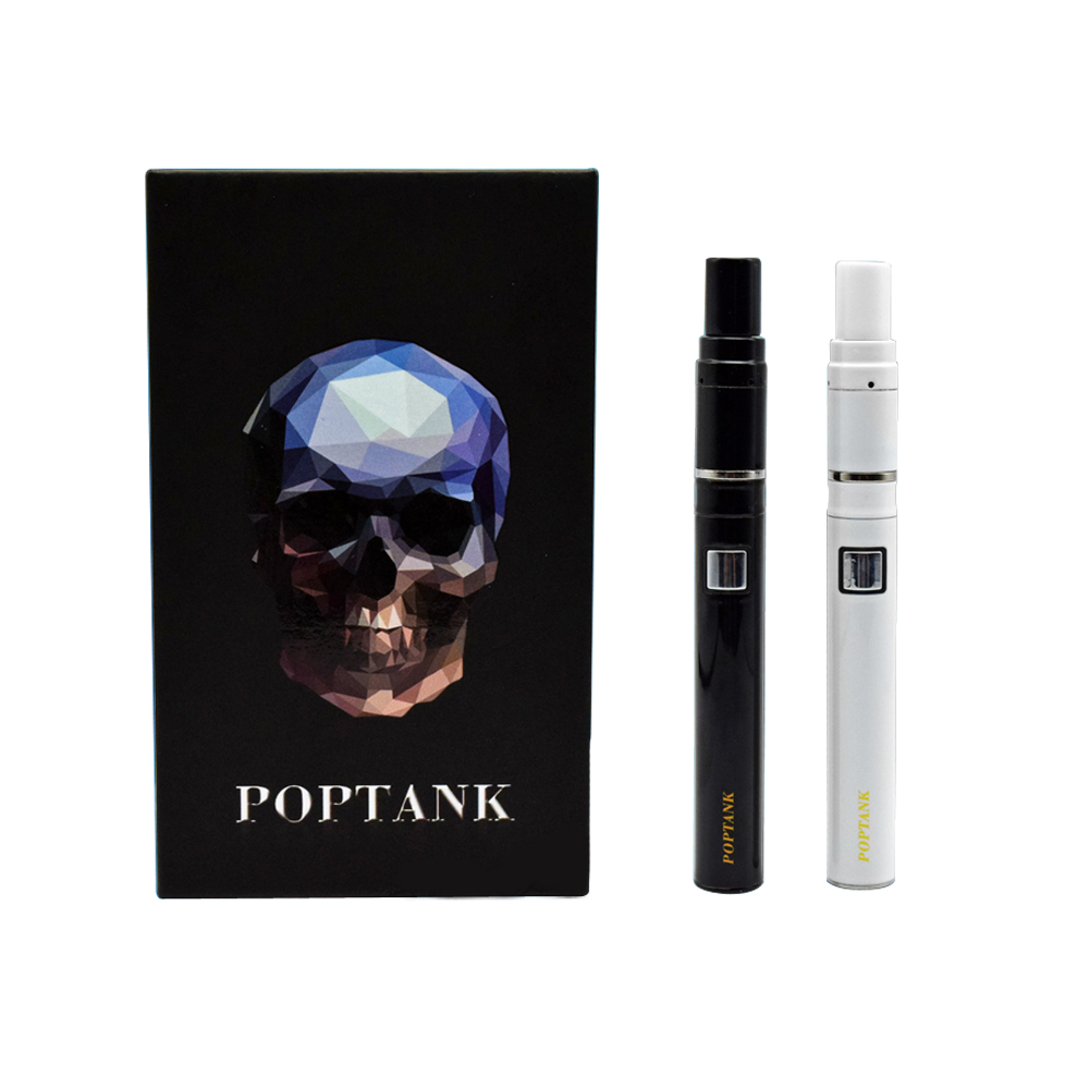 Longmada Pop Tank Super Slim Battery Ceramic Heating Coil Atomizer Dab Pen Starter Kit Chamber Vaporizer Wax Vapor Core 510