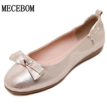 2016 New Fashion Spring Women Flats Shoes Ladies Bow Square Toe Slip-On Flat Women's Egg roll shoes