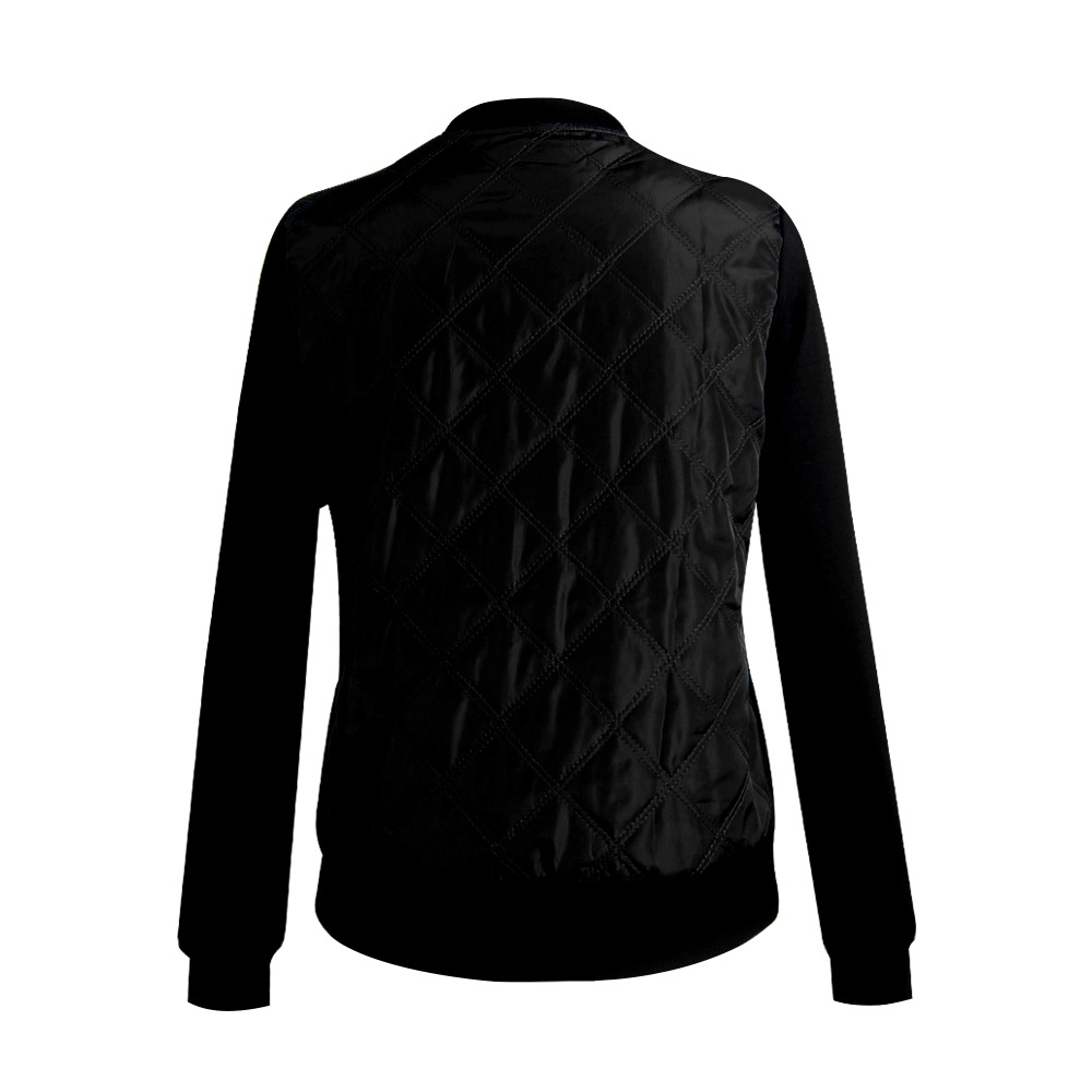 HTB1v1mqw5CYBuNkSnaVq6AMsVXaU Plus Size Autumn Winter Fashion Slim Women's Jacket Zipper Cardigan Splice Bomber Jackets 2019 Long Sleeve Bodycon Coats Female