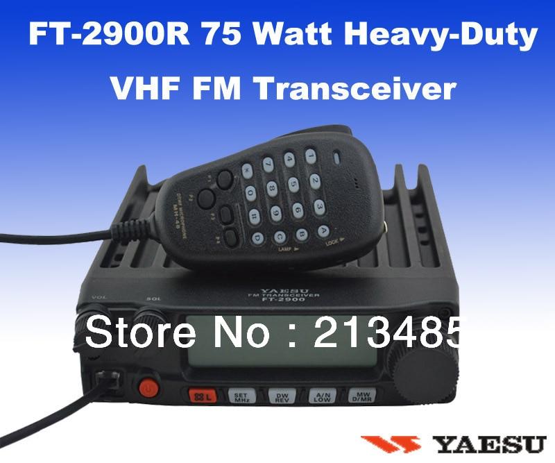 Yaesu FT-2900R/E 75 Watt Heavy-Duty 136-174MHz VHF FM Transceiver/Mobile Radio