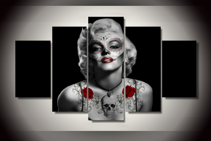 Hd Printed Day Of The Dead Marilyn Monroe Painting Canvas Print Room Decor Print Poster Picture