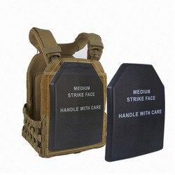 Militer Taktis Rompi Baffle Pelindung Pad Dada Airsoft Sapi Shock Piring untuk Berburu Rompi