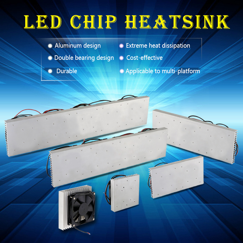 купить 50W 100W 200W 400W 500W LED aluminum Heatsink radiator with fan led radiator for led full spectrum growlight led aquarium light по цене 794.89 рублей