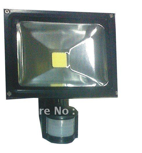 ФОТО free shipping promotion PIR 30w led floodlight/led sensor flood lamp/CE&RoHS,warm white/cool white