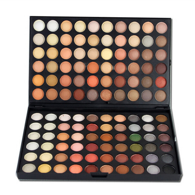 New 120 Full  Colors Eyeshadow Palette Professional Matte & Shimmer Eyeshadow Palette Mineral Cosmetic Makeup Set