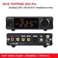 Придет DX3 Pro дома Bluetooth усилитель USB DAC Amp AK4493 XMOS XU208 DSD512 Hifi ЦАП усилителя с выходной усилитель для наушников