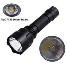 C8 XP L HI V3 LED el feneri alüminyum avcılık XPL AMC7135 su geçirmez meşale ışık güçlü kamp lanterna 18650 pil kullanın