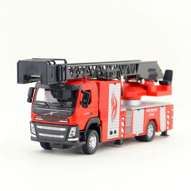 150 Scale/Diecast Model/Volvo Fire Engine Truck Car/Engineering Toy