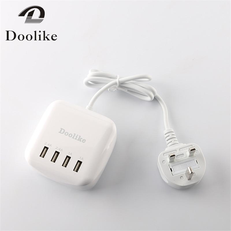 4 en 1 Multi ports de chargeur EU UK US Plug 2.4a 1a blanc chargeur - Pièces détachées et accessoires pour téléphones portables - Photo 4