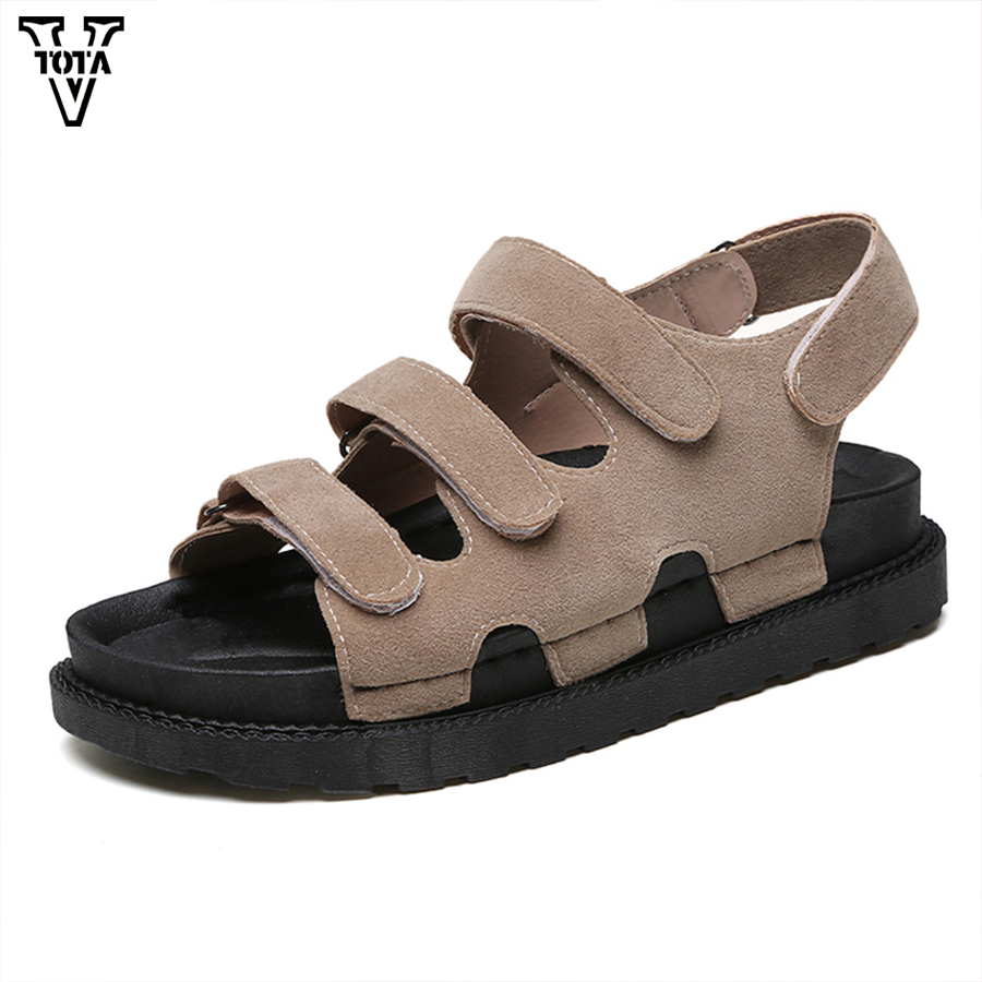 2017 Gladiator Summer Shoes Woman Platform Sandals Women Flats Soft Leather Casual Open Toe Wedges Sandals Women Shoes R18 lanshulan wedges gladiator sandals 2017 summer peep toe platform slippers casual glitters shoes woman slip on flats creepers
