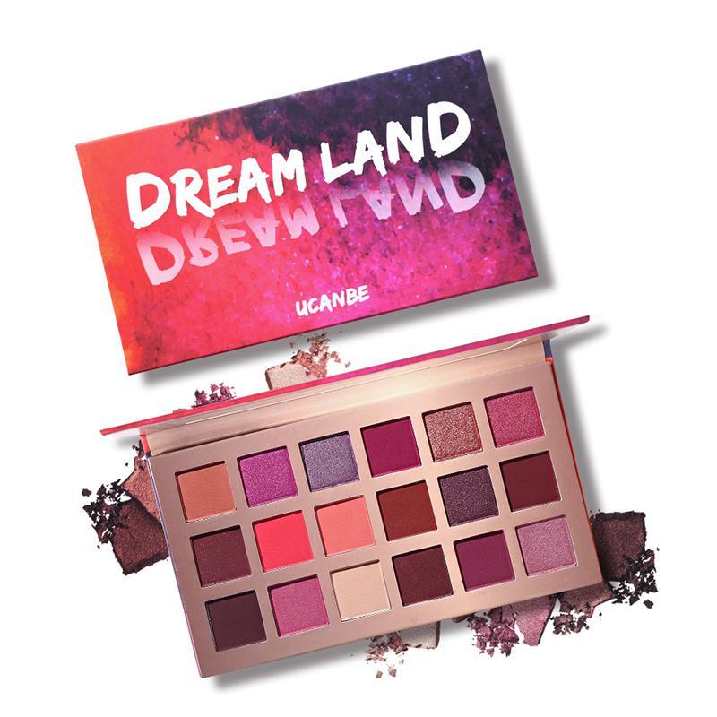 UCANBE Brand 18 Color Eyeshadow Palette Makeup Matte