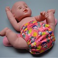 JinoBaby Waterproof Diaper Aio Bamboo Cloth Diaper One Size Training Pants Fits NB to 30 Pounds (3kgs to 13kgs)