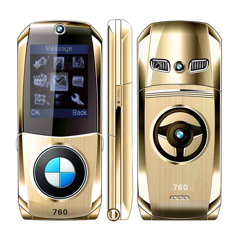 MAFAM débloqué flip full metal modèle de voiture clé conception forme GPRS Internet E-book De Luxe principal mobile téléphone portable P003