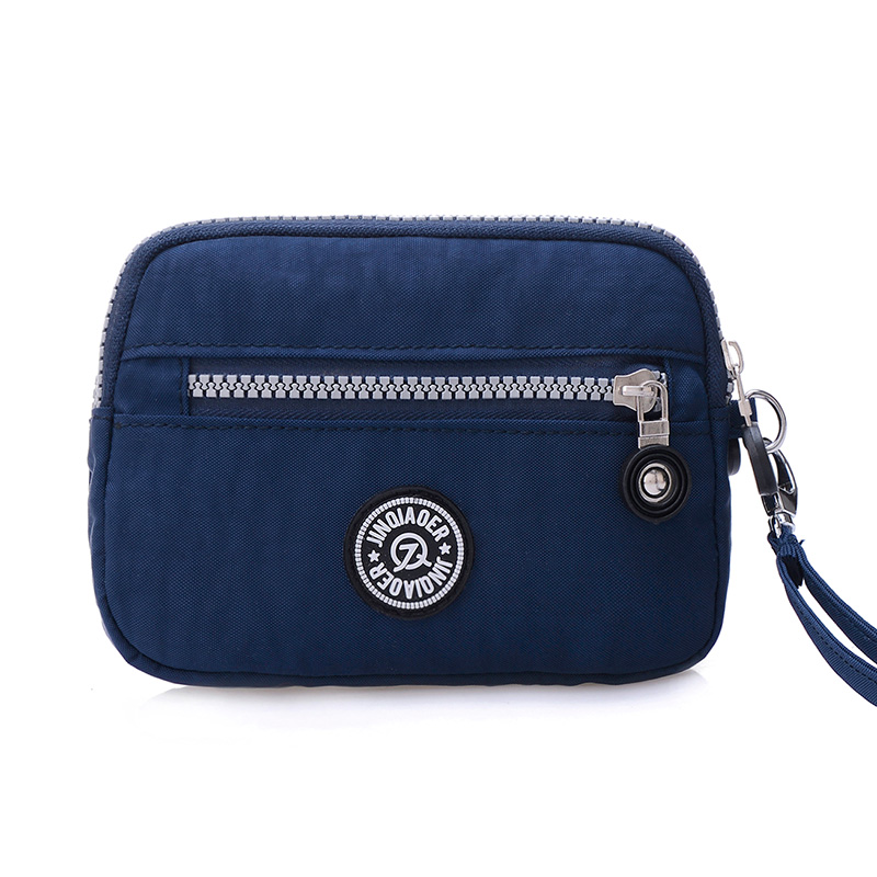 Small Fashion Women Clutch Bag Nylon Waterproof Nylon Multiple Wristlets Soft Zipper Pockets  Style Shoulder Bag Purse
