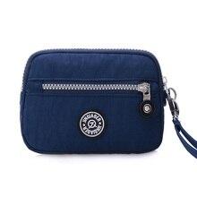Small Fashion Women Clutch Bag Nylon Waterproof Multiple Wristlets Soft Zipper Pockets Kiple Style Shoulder Purse