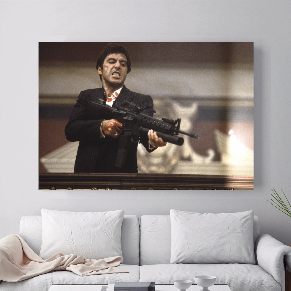 Scarface Movie Vintage Canvas Art Print Painting Poster Wall Pictures For Bedroom Home Decoration Wall Decor No Frame in Painting Calligraphy from Home Garden