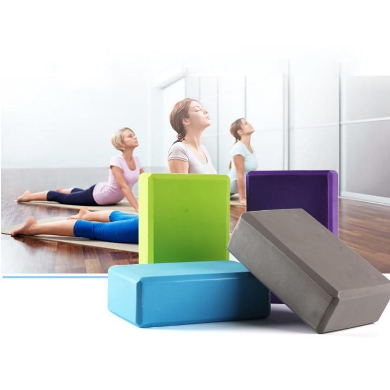5 Colors Pilates EVA Sports Exercise Gym Foam Yoga Block Brick Workout Stretching Aid Body Shaping Health Training 2018