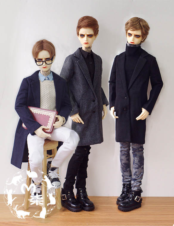 Fashion  black / dark blue coat  For BJD 1/3,SD17, Uncle Doll Clothes Accessories fashion three piece suit for bjd 1 3 1 4 sd17 uncle doll clothes accessories