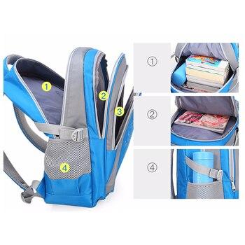 Backpack Schoolbag Children School Bags for Teenagers Boys Girls Big Capacity Waterproof Satchel Kids Book Bag 3