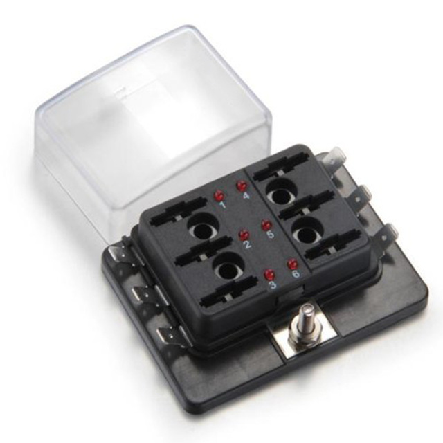 hot new top quality 6 way blade fuse box holder positive bus hot new top quality 6 way blade fuse box holder positive bus in 12v led