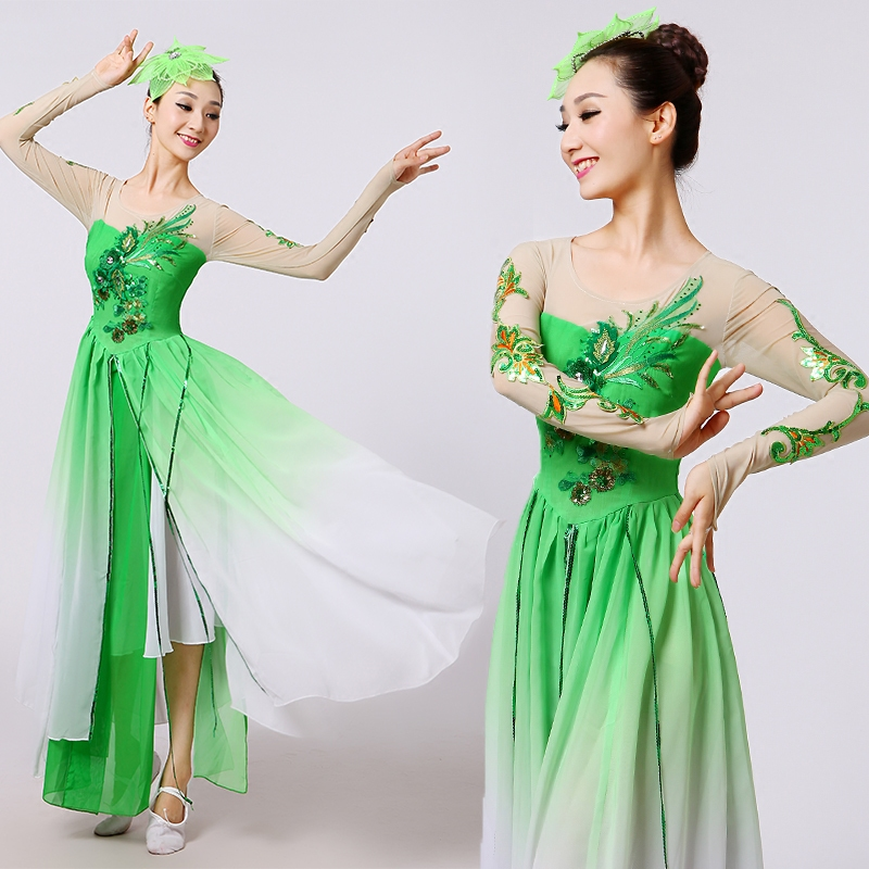 2016 New Performance Costumes Modern Dance Classical Dance Yangko Dance Jasmine National Stage Dance Clothing Adult 2019 New Fashion Style Online