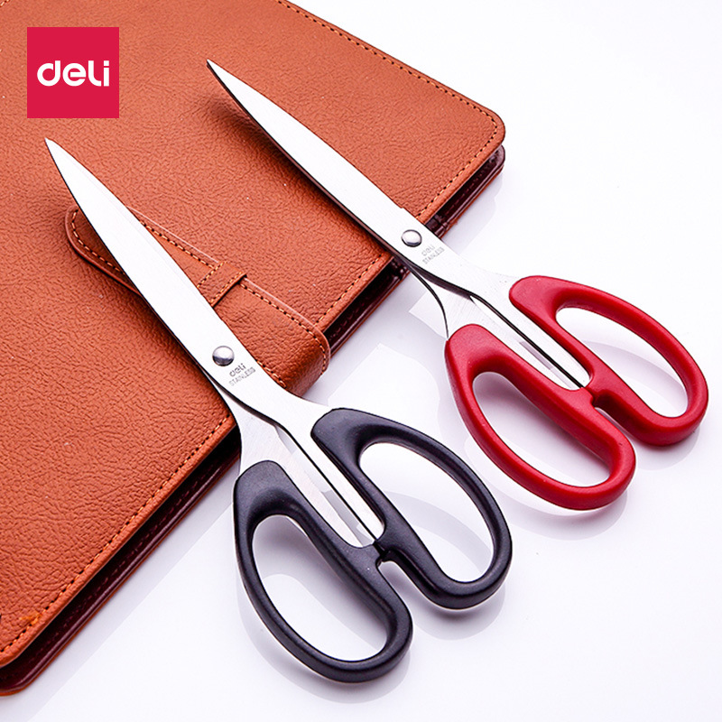 Deli High Quality Stationery Stainless Steel Scissors Business Office Scissors Home Paper Knife Cutter Scissor Cutting Tool Gift