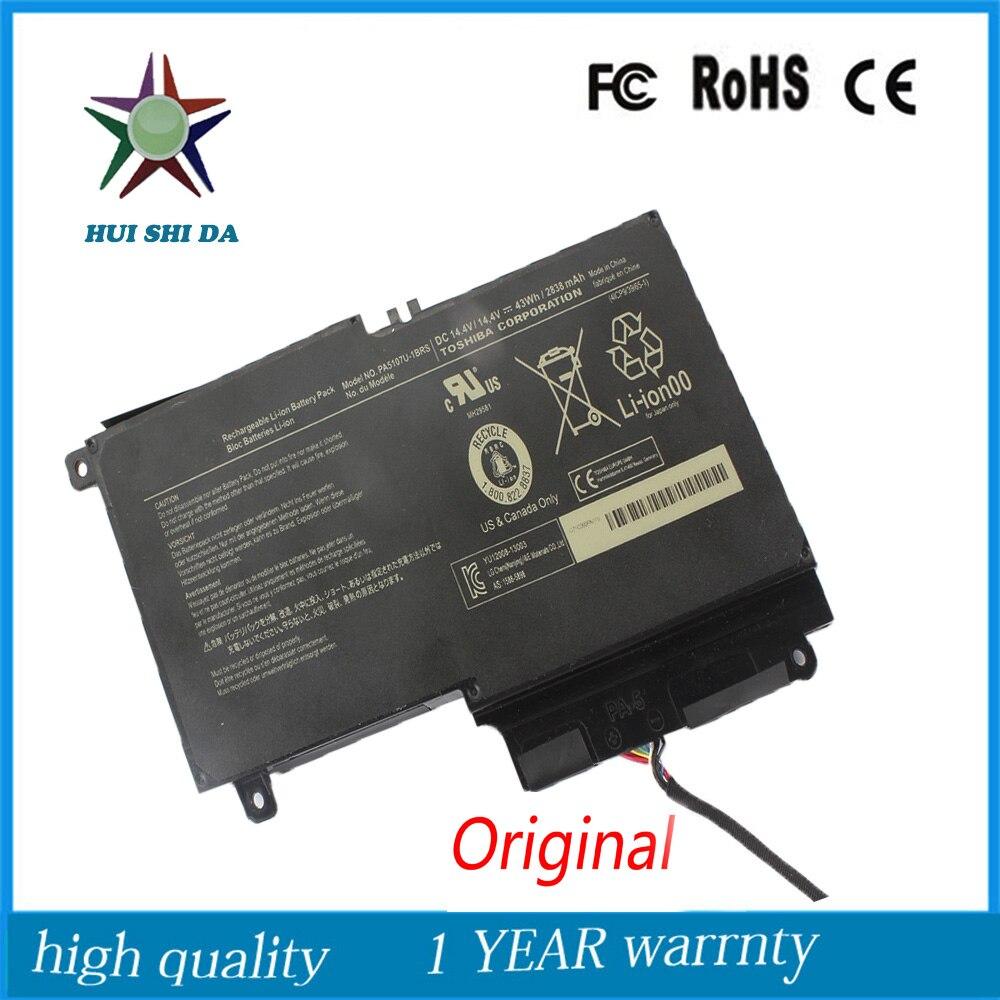 14.4v 43Wh New  Original   Laptop Battery for Toshiba PA5107U-1BRS Satellite L55 P50 lmdtk new 6 cells laptop battery pa5108u 1brs pa5109u 1brs pa5110u 1brs for toshiba c40 c45 c50 satellite c55 c70 c75 series