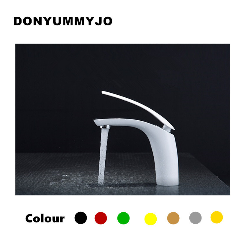 New Hot sell Brass Baking finish bathroom basin Faucet / Fashion 12 Colors Hot and Cold Water Mixer Tap / Black&White&Red pastoralism and agriculture pennar basin india