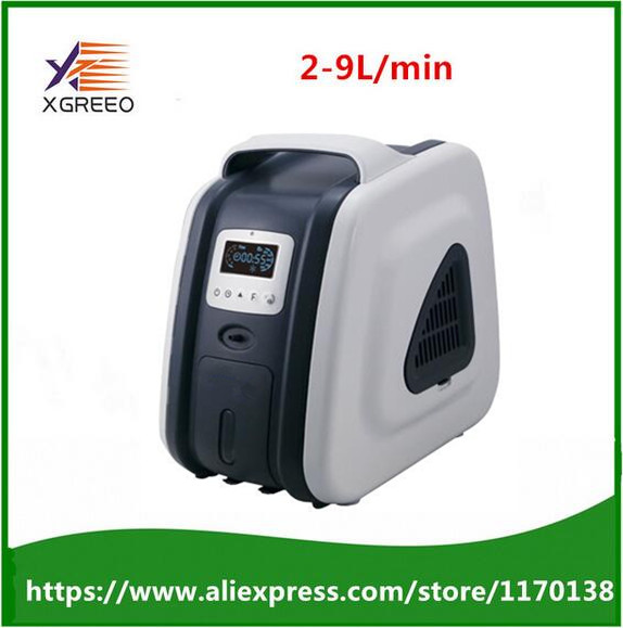 XGREEO XTY-AC201 Medical used Portable Oxygen Concentrator Generator Oxygen Concentration 93% Medical Oxygen Machine oxygen regulator cga540 used on medical ozone generator