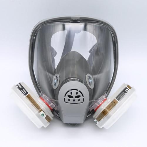 For 3M 6800 Gas Mask Full Facepiece Respirator 7PCS Kit Painting Spraying Grey