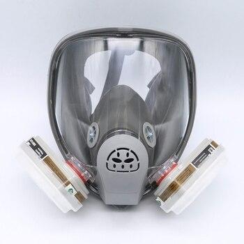 For 6800 Mask Full Facepiece Respirator 7PCS Kit Painting Spraying Grey