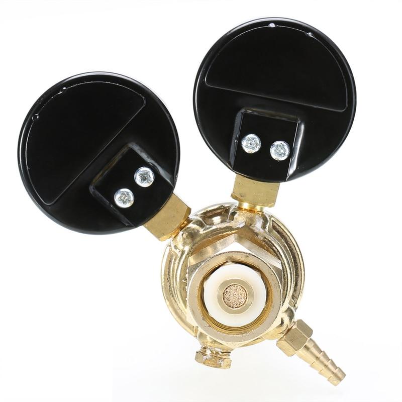 Image 4 - Brass CO2 Argon Meter Reductor Carbon Dioxide Regulator Mini Pressure Reducer Mig Flow Control Valve Used For Welding Or MAGValve   -