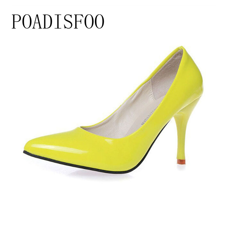 2017 New Hot Sale Women's Fashion OL Pumps For Woman Summer Style Shoes Summer Style PU Material Sexy Party Shoes .FLT-608 big size hot sale fashion new style ankle strap pumps for women woman party