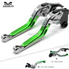 все цены на CNC Aluminum Motorcycle Accessories Brake Clutch Levers Adjustable Folding Extendable FOR KAWASAKI ZX6R ZX636R ZX6RR ZX 6R