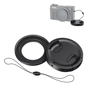 Image 2 - JJC Lens Filter Adapter 49mm Lens Cap with Keeper Kit for Canon PowerShot G5X G7X G7X Mark II