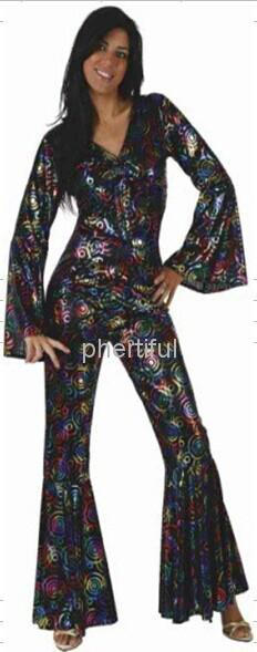 Wholesale - 2016 New Carnival Costume Cosplay Party Clothing for adult Women knitted disco dancer costumes Black color