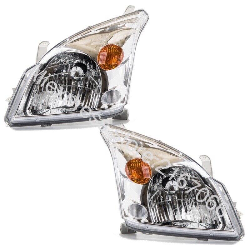 2 قطعة المصابيح الأمامية لتويوتا لاند كروزر برادو 120 2002 2003 2004 2005 2006 2007 2008 2009 الجانب الأيسر + الجانب الأيمن زوج.