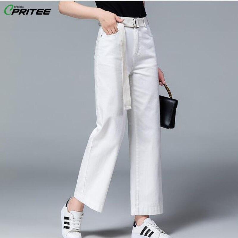 814ae7392f Pantalon Feminina Oficina Blanco Sueltos Señora Mujer Cordón Pantalones De  Verano Casual Pierna Ancha Calca Cinturón ...